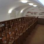 Ukázka řešení akustického obkladu zasedací místnosti - SOU rybářské Třeboň