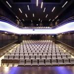 Akustická úprava divadelního sálu v Prachaticích - pohled z jeviště
